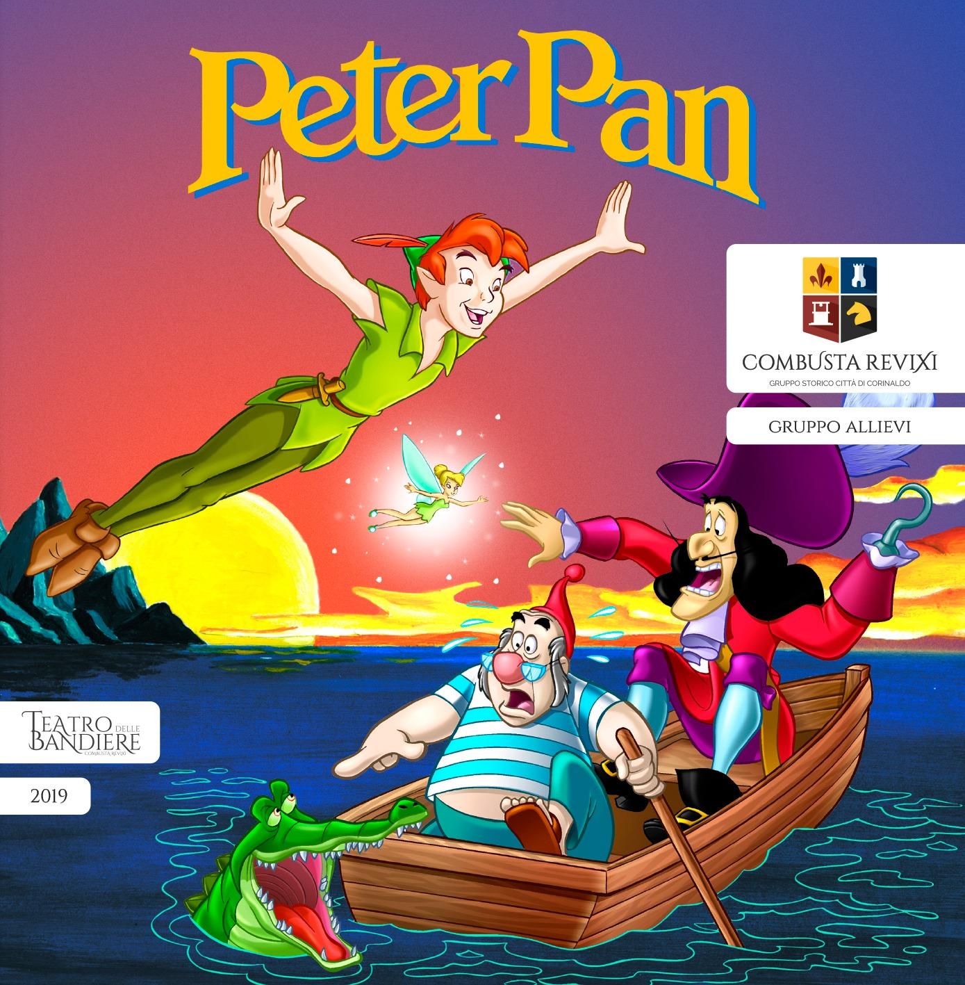 Lo Spettacolo Peter Pan degli Allievi Sbandieratori a Giove (Tr)
